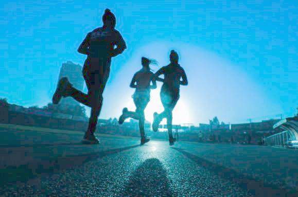 Singles rennen 'strak' tijdens een runningdate